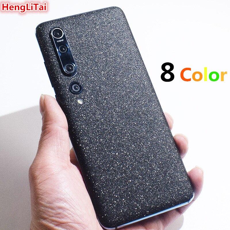 Colorful Glitter matte Protective Film Wrap Skin Cellphone back paste Sticker For Xiaomi 9/9 SE/cc9/cc9 Pro/cc9E/10/10 Pro
