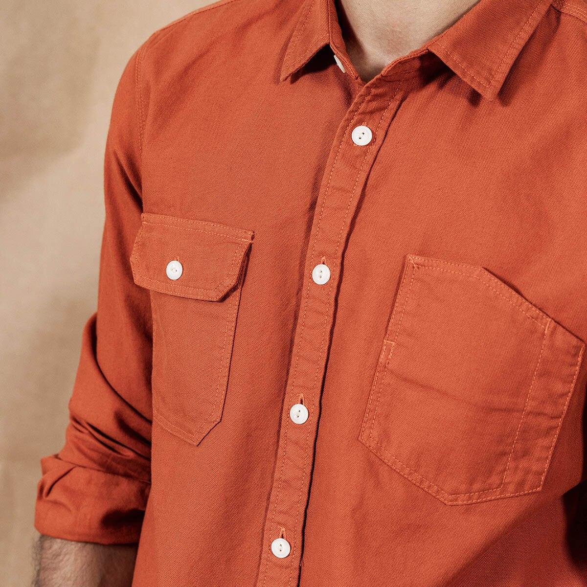 Image 4 - SIMWOOD 2020 spring New Cargo Pocket Shirt Men 100% Cotton Causal  Long Sleeve Shirts Plus Size High Quality Clothing 190376Casual  Shirts