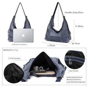 Image 5 - SC sac à main Vintage en cuir véritable pour femmes, grands sacoches décontracté rétro pour filles, Patchwork fait à la main
