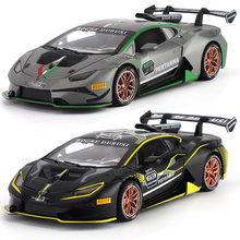 1:32 HURACAN ST EVO Car Alloy Sports Car Model Diecast Sound Light Super Racing Lifting Tail Toys For Children Christmas Gift