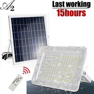 A2 супер яркий солнечный светильник, 1800Lux солнечный светильник, заливающий светильник, 15000 мА большой аккумулятор, уличный водонепроницаемый...