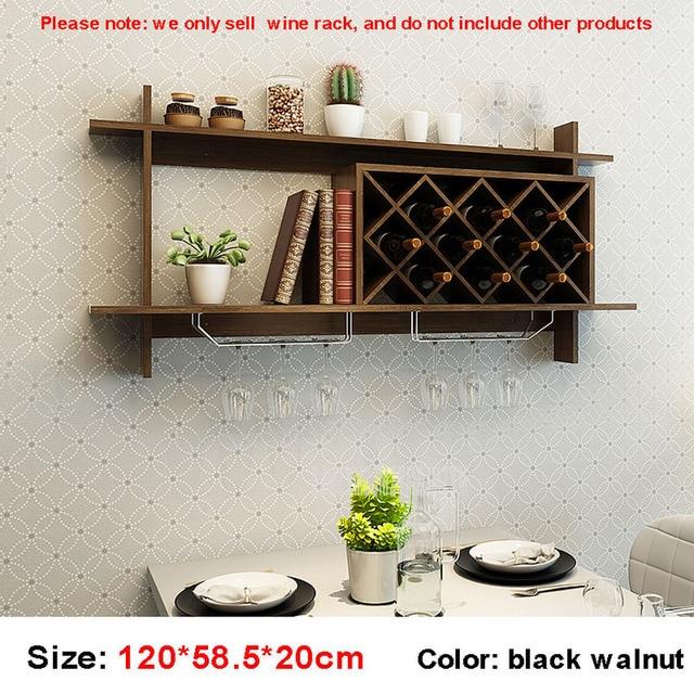 120cm naścienny restauracja stojak na wino ściana z drewna wisząca butelka czerwonego wina szampana dekoracja półki dla domu salon