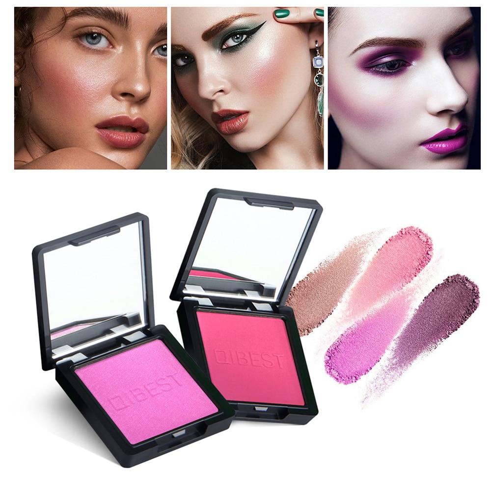 QIBEST 8 Colors Face Makeup Cheek Blush Powder Matte Blusher Pressed Foundation Palette Blusher Rouge Cheek Makeup