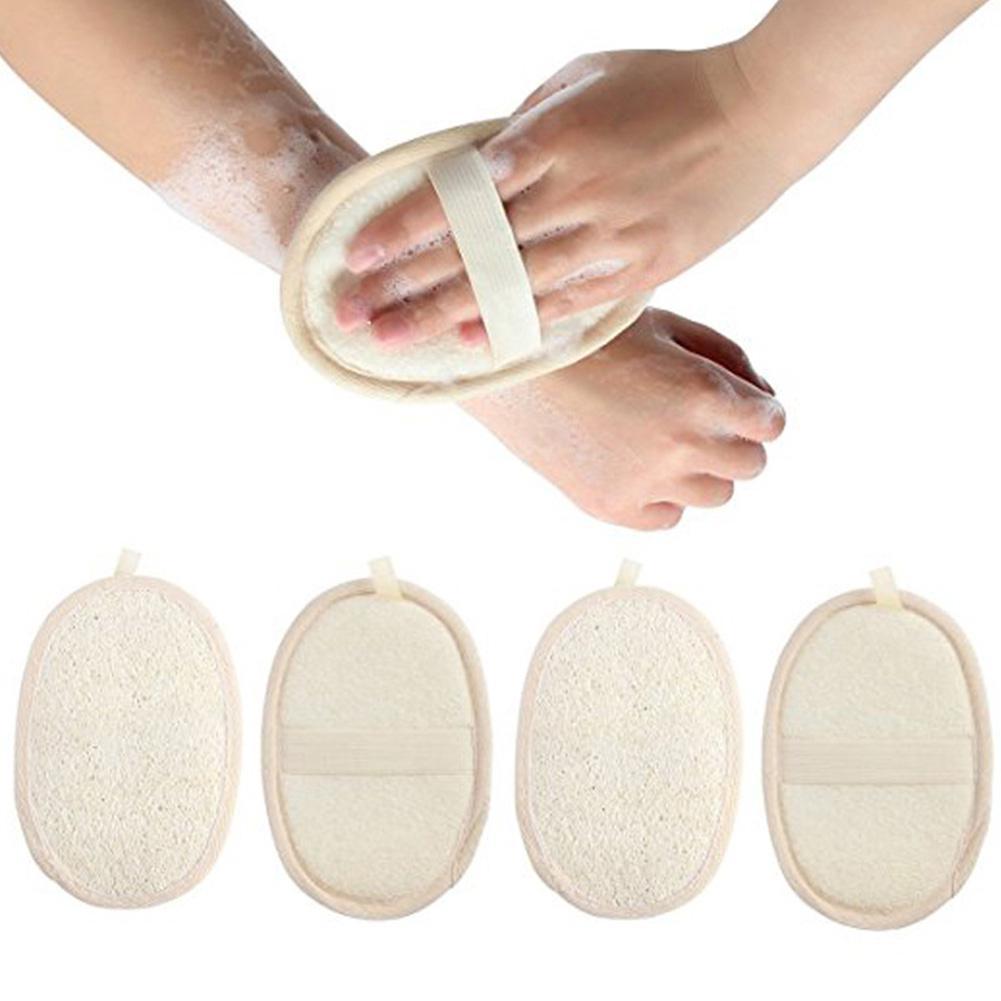 1pc Natural Loofah Bath Shower Sponge Body Scrubber Exfoliator Washing Pad