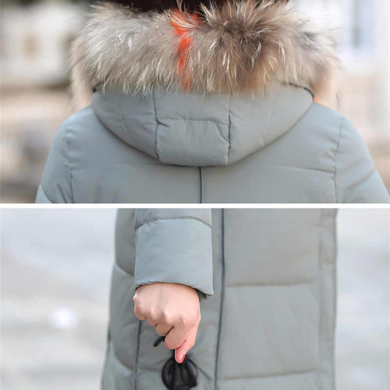Женское хлопковое пальто среднего возраста средней длины, толстый теплый пуховик, хлопковая куртка, однотонный, большой размер, с капюшоном, с меховым воротником, куртка XIN109