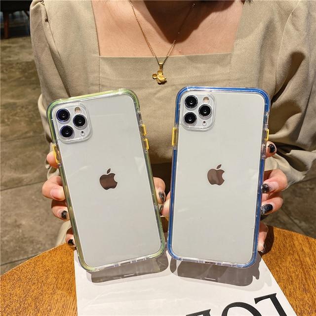 Luxury Laser Frame Phone Case For iPhone 11 Pro 12 Pro Max XS Max 7 8 Plus 12 Mini X XR SE 2020 Transparent Hard Shockproof Capa 2
