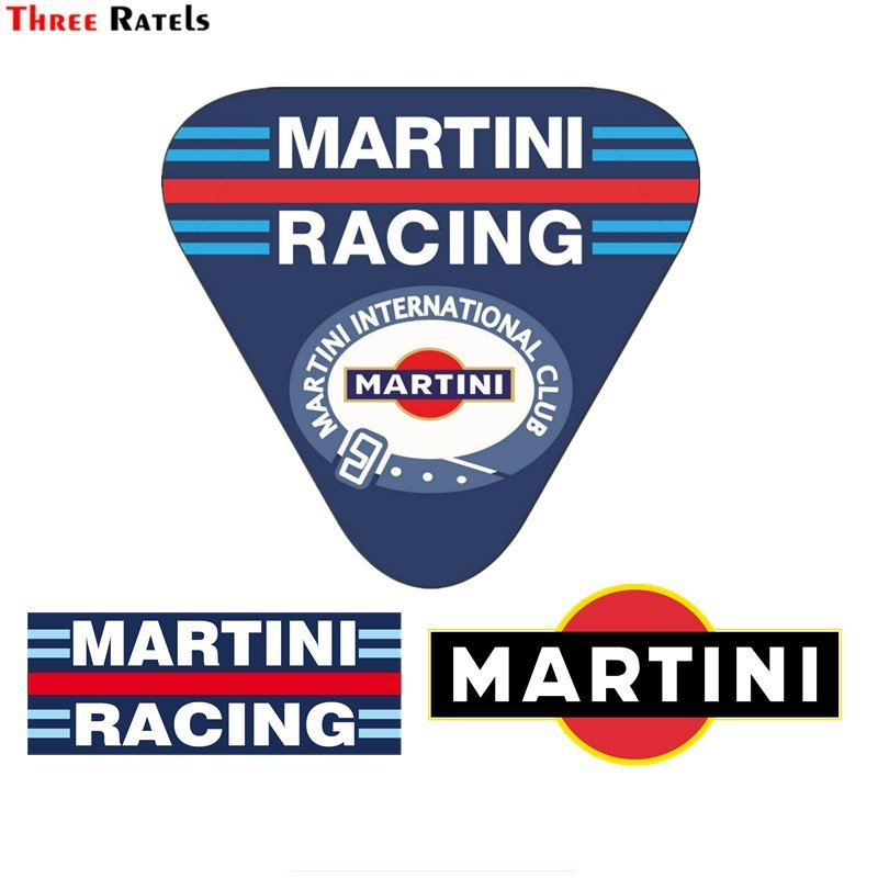 Three Ratels  FC958  For MARTINI Sunscreen Car Stickers Scratch-Proof Decal Surfboard Suitable For All Types Of Vehicles