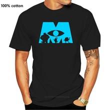 Canavarlar Inc Logo siluet erkek grafik T Shirt
