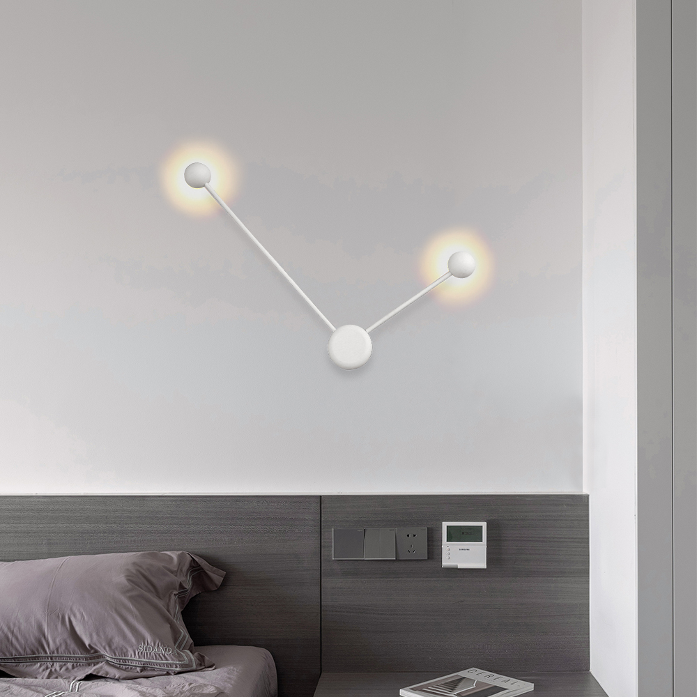 Lamplo New Modern LED Wall Lamp Nordic Minimalist 6W Wall Light For Bedroom Living Room Stylish Creative Foyer Decorative Lamp