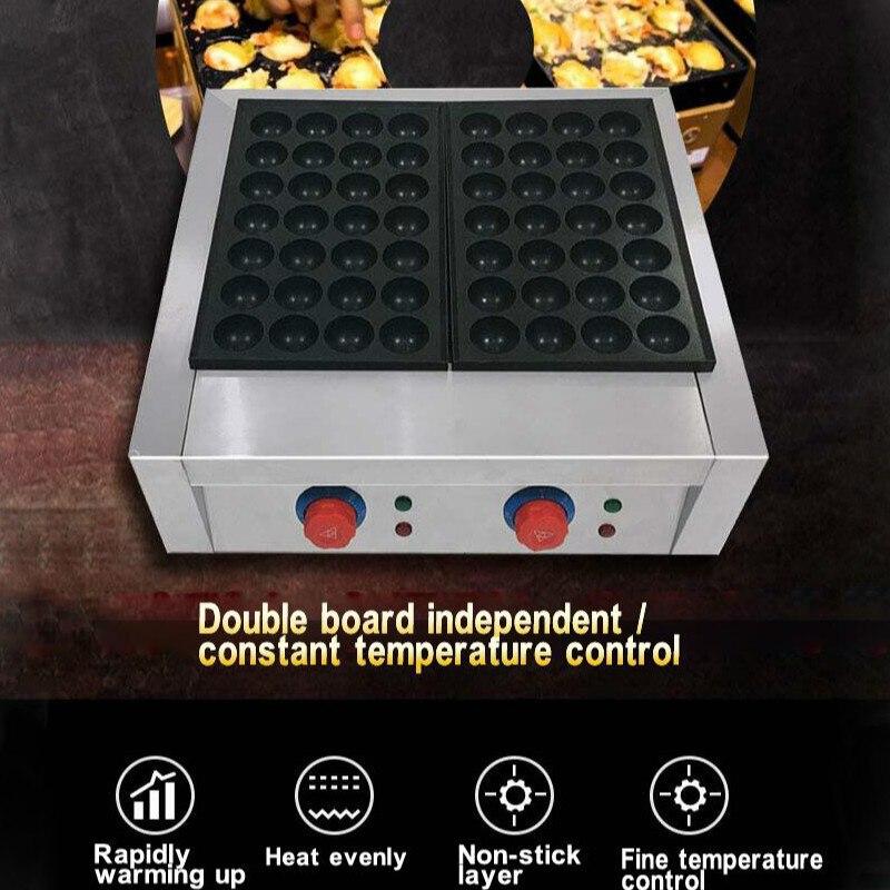 56 trous 4cm petites boules Machine gros poisson boule four électrique chauffage aluminium plaque moule - 2