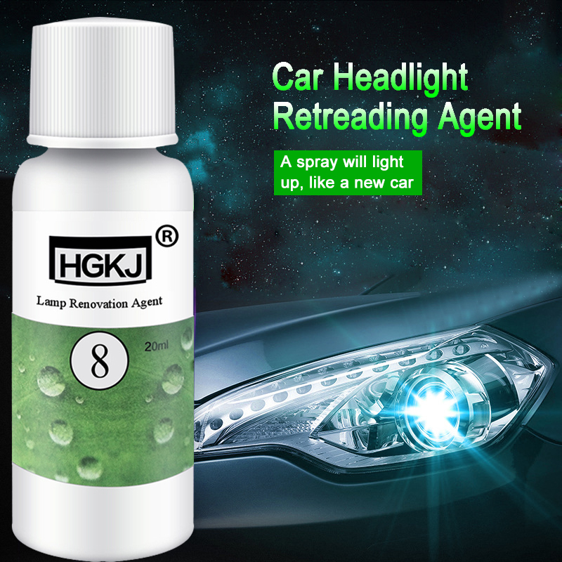 HGKJ-8-20MLAuto Car Accessories Polishing Headlight Agent Bright White Headlight Repair Lamp Cleaning Window Glass Cleaner TSLM1