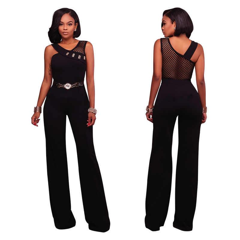 Femmes été combinaison bureau dames vêtements de travail élégant avec taille ceinture salopette Patchwork chic sans manches mince modeste vêtements