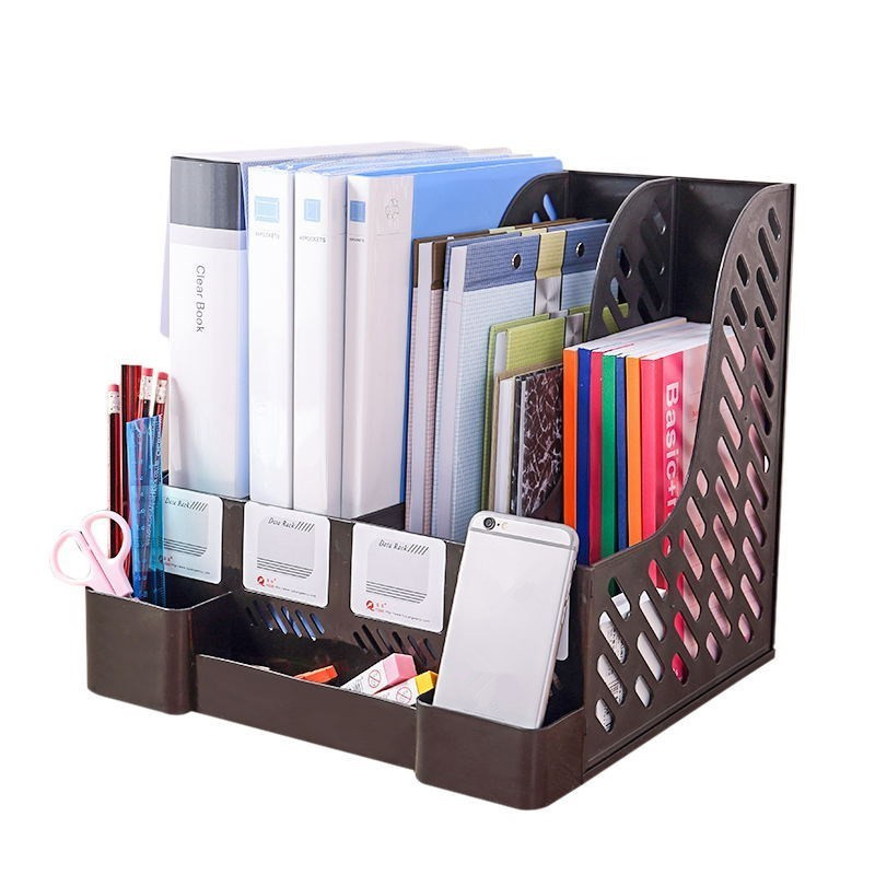 Plastic File Shelf Rack Folder Divider Desktop Magazine Holders Filing Tray US
