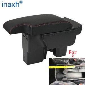Image 2 - For Toyota Hilux Armrest box Retrofit parts Interior Car Armrest Storage box Holder Ashtray accessories USB LED