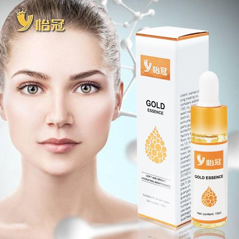 YIGUAN 24k Gold Serum Essential Oil Hyaluronic Acid Face Cream Whitening Firming Moisturizing Nourishing Collagen Skin Care