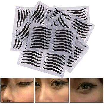 1 Uds herramientas para los párpados Negro estilo Sexy pegatina para ojos cinta delineadora de ojos belleza delineador de ojos pegatina herramienta de maquillaje