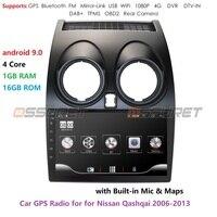 Android 9.0 Car Radio Multimedia Video Player Navigation GPS For Nissan Qashqai J10 2006 2007 2008 2009 2013 No 2 Din DVD