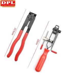 Image 4 - Pince de serrage à Joint métallique 2 CV, outil dinstallation de bande, Type doreille, pince de démarrage, outil manuel en métal rouge + noir