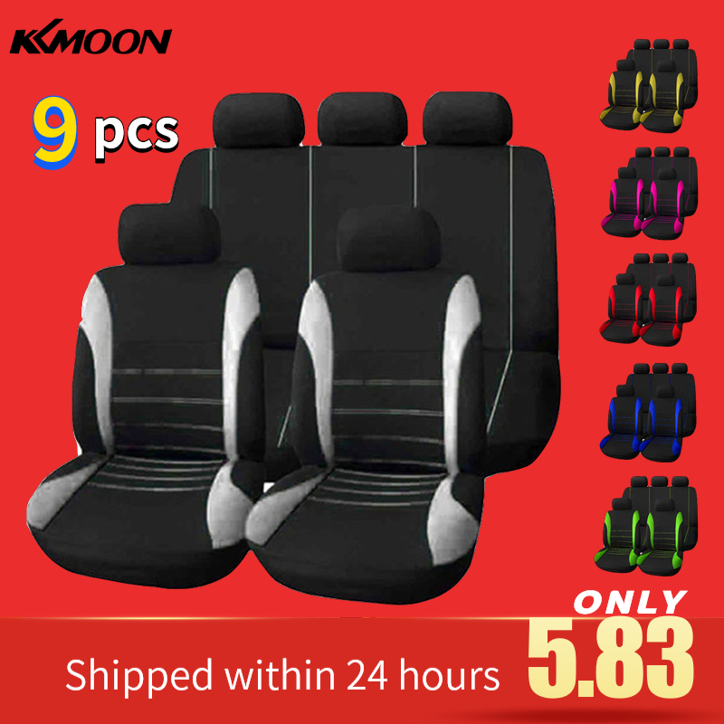 Universal 9 Pcs Car Seat Cover Auto Interior Decoration Protective Cushion Vehicle styling Automotive Seat Protector Fit most