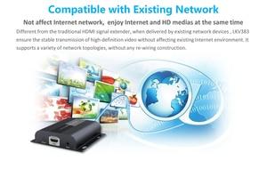 Image 5 - Hasta 120m con IR,LKV383 HDbitT HDMI 1080P extensor LAN repetidor sobre RJ45 Cat5e/Cat6, Envío Gratis