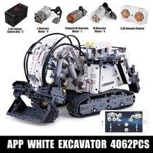 Technic Mining Excavator R9800 модель совместима 42100 строительные блоки кирпичные моторы набор питания MOC-1874 город детские игрушки подарки