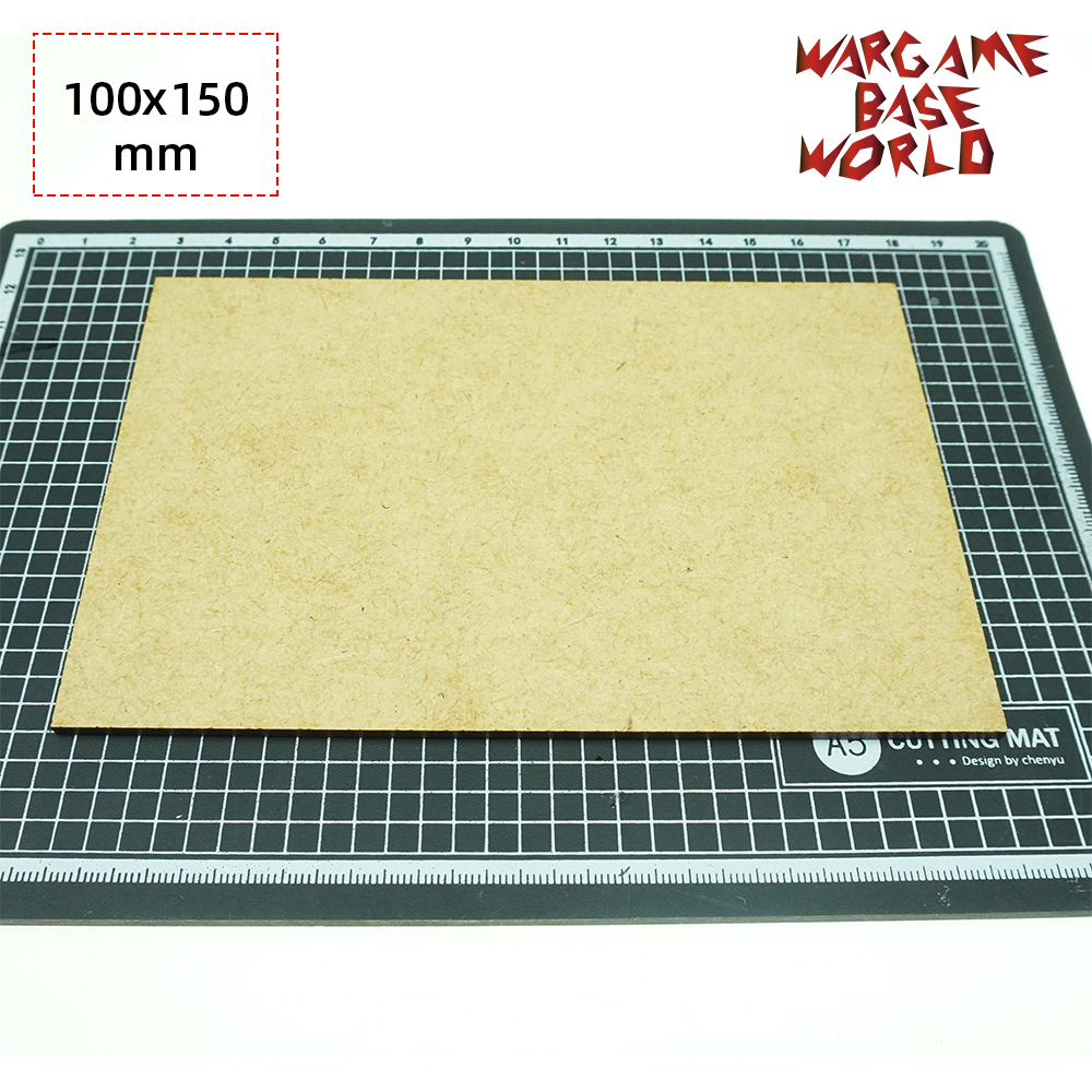 MDF Bases - Rectangle 100 X 150mm - Basing Laser Cut Wargames Wood