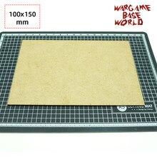 Mdf baixo-retangular 100x150mm-baixo laser corte jogos de guerra de madeira
