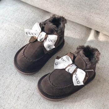 חדש הגעה יפה חורף נעלי בנות קטיפה פעוט ילד מגפי ילדי שמירה על חם בייבי שלג מגפי ילדי נעליים