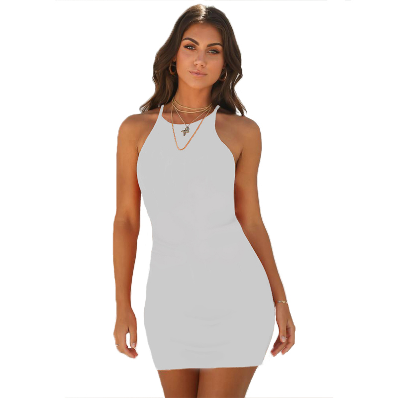 Summer Womens <font><b>Sexy</b></font> Casual Bodycon black <font><b>white</b></font> vintage Bandage <font><b>Dress</b></font> Sleeveless strapless short party beach Club mini <font><b>dress</b></font> image