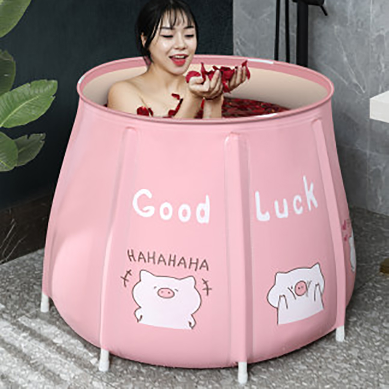 Portable Bathtub Folding Bath Bucket Foldable Large Adult Tub Baby Swimming Pool Insulation Separate Family Bathroom SPA Tub
