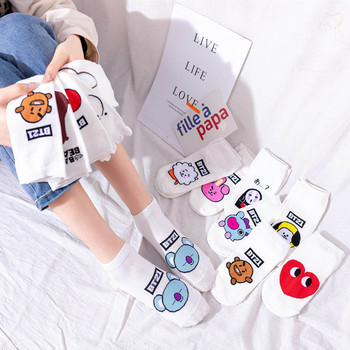 2020 Woman Socks Cartoon Anime Cotton Korean Ship Fun Funny Creative Series sock women Dropshipping - discount item  67% OFF Women's Socks & Hosiery