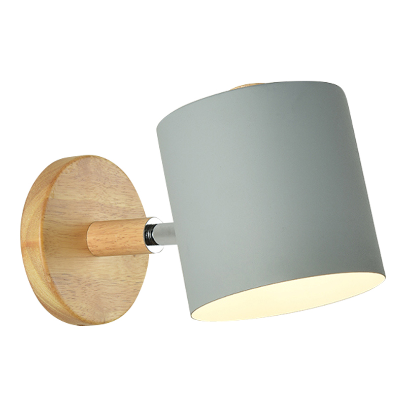 Image 5 - BOTIMI Nordic LED Wall Lamp For Bedroom Reading Wall Sconce Bedside Luminaira Modern Wooden E27 Wall Mounted Lighting Fixtures-in LED Indoor Wall Lamps from Lights & Lighting