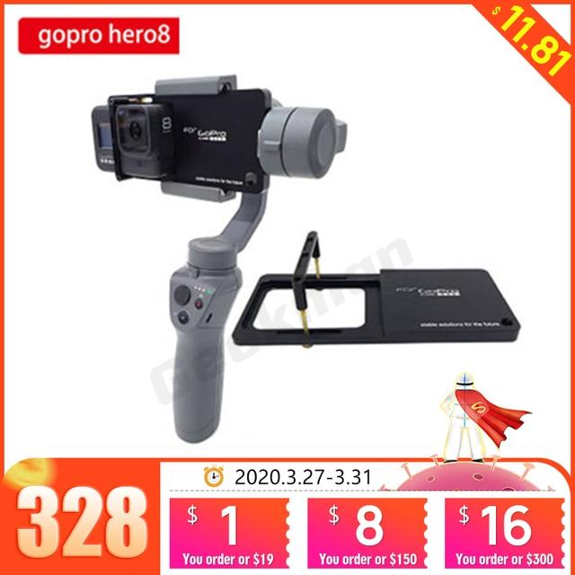 Gopro hero 8 용 핸드 헬드 짐벌 안정기 마운트 플레이트 DJI 용 스포츠 액션 카메라 OSMO Moblie Smooth 4 Q2 Snoppa Atom Isteady