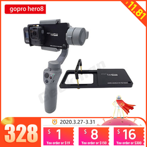 Image 1 - Handheld Gimbal Stabilizer Mount Plate For Gopro hero 8 Sports Action Camera For DJI OSMO Moblie Smooth 4 Q2 Snoppa Atom Isteady