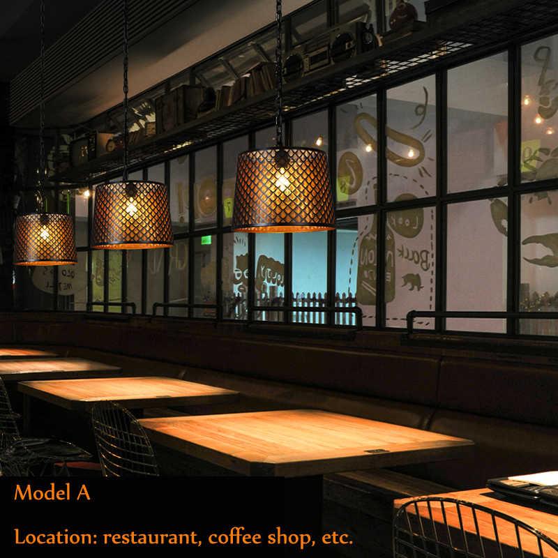 Винтажная кованая промышленная ветровая люстра с вырезами, круглый Ресторан, кофейня, теплая декоративная сетка для отеля, лампа для кофе