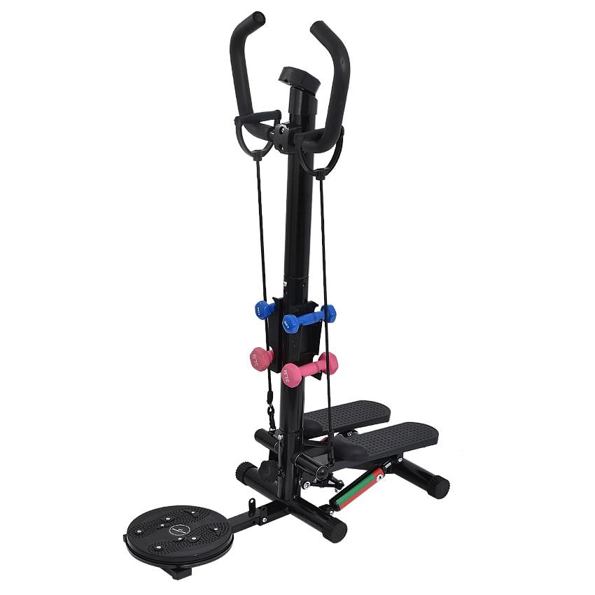 K-STAR Household Hydraulic Stepper Mute Multi-Function Twist Waist Slim Body Pull Dumbbell Leg Fitness Training Equipment