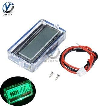 BMS 3S 12V 24V 48V batería de litio indicador de capacidad baterías probador voltímetro medidor de voltaje con carcasa impermeable