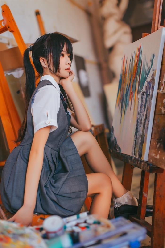 桜桃喵 – 画室少女,萝莉风COS  [17P/176MB]插图2