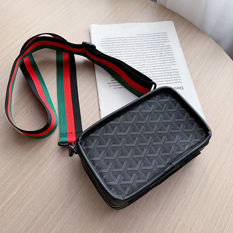 S.IKRR Mini Handbags Women Fashion Ins Ultra FFre Retro Wide Shoulder Strap Messenger Bag Purse Simple Style Crossbody Bags