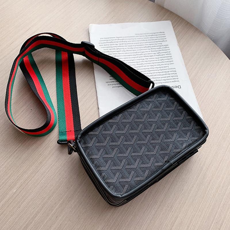 S.IKRR Mini Handbags Women Fashion Ins Ultra FFre Retro Wide Shoulder Strap Messenger Bag Purse Simple Style Crossbody Bags