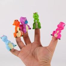 Animal-Figure-Toys Finger-Puppets for Children Birthday-Gifts Baby Dolls Dinosaur Familytoys
