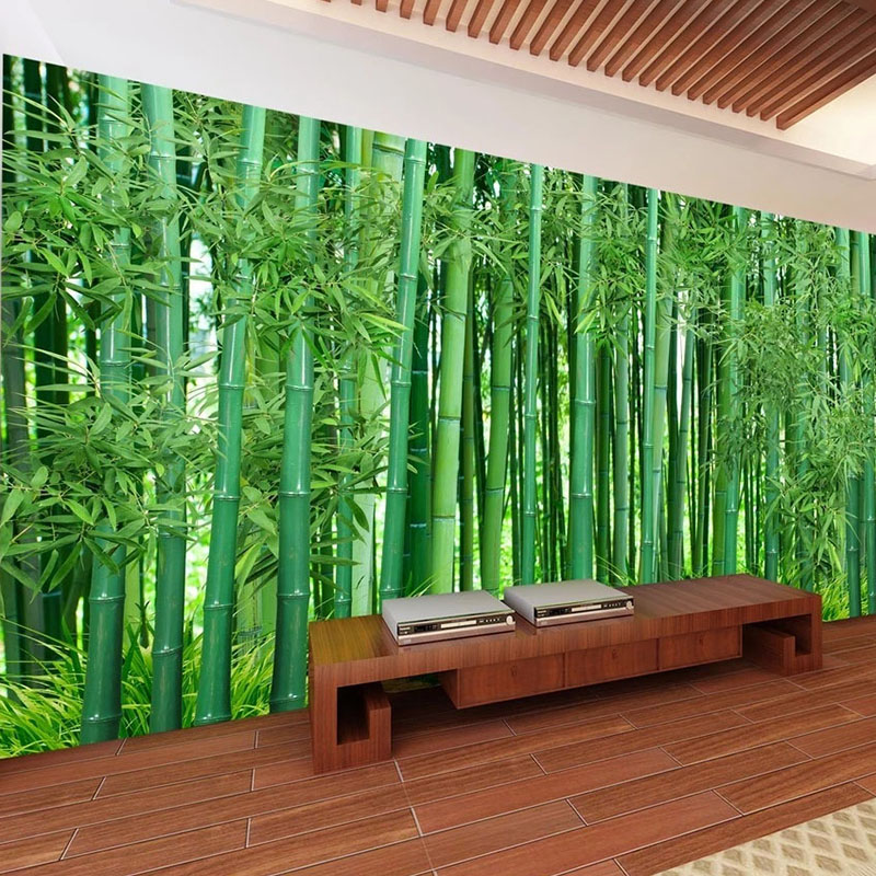 Custom 3D Wallpaper Green Bamboo Forest Landscape Photo Wall Murals Living Room Bedroom Background Wall Decor Papel De Parede 3D