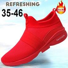 Baskets rouges et blanches pour hommes, chaussures à la mode, taille 35-46, collection automne 2020