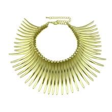 цена на Hindu Aboriginal Alloy Necklace Women Statement Choker Noble Bib Necklace Maxi Fashion Jewelry Big Torques