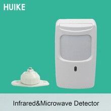 (1 pièces) détecteur infrarouge mural DT7225 capteur de mouvement micro ondes à lintérieur de limmunité pour animaux de compagnie avec Signal de relais de support