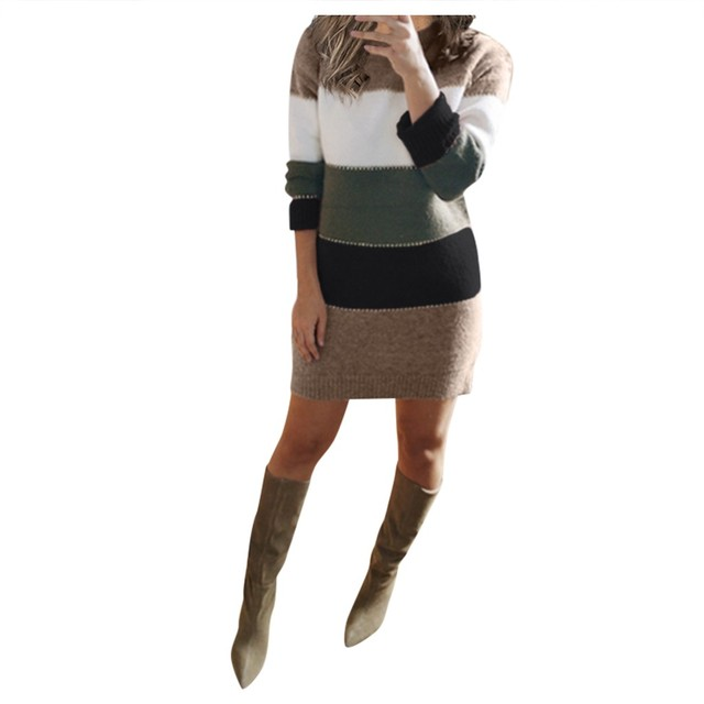 Striped Sweater Day Dress 4