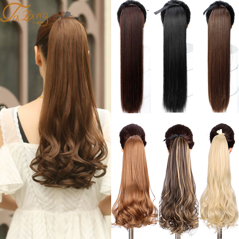 TALANG Black Heat Resistant Synthetic Hair Extensions Pony Tail Hair Extensions Drawstring Ponytail Hair Extensions hair