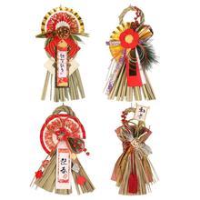 Японский стиль, новогодняя настенная подвеска, сосна, изгоняющая злой орнамент для украшения дома, двери