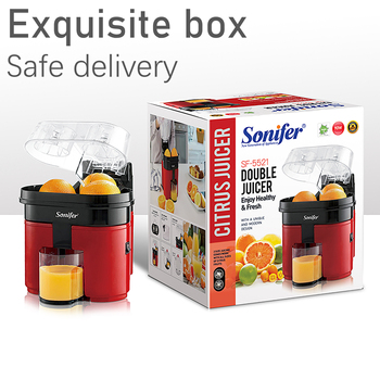 Fast Double Juicer 90W Electric Lemon Orange Fresh Juicer With Anti-drip Valve Citrus Fruits Squeezer Household 220V Sonifer 6