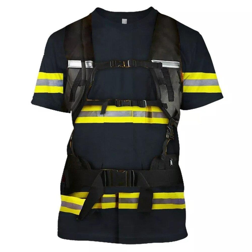 Anime Fire Force Enn No Shouboutai Leonard Burns Unisex 3D Print Short Sleeve T-Shirt/pants Set Cosplay Firefighter Costumes